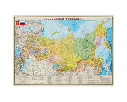 Карта РФ. Полит.-админ. 1:14,5М настольн. капс, шт ОСН1224025