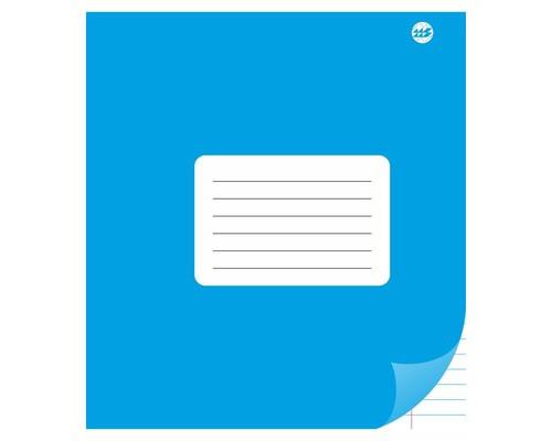 Тетрадь школьная А5, линейка 12л, обл.картон (однотонная) С 901