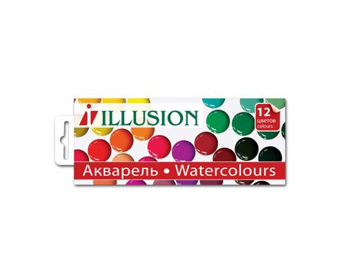Краски акварельн. Illusion 12цв б/кисти