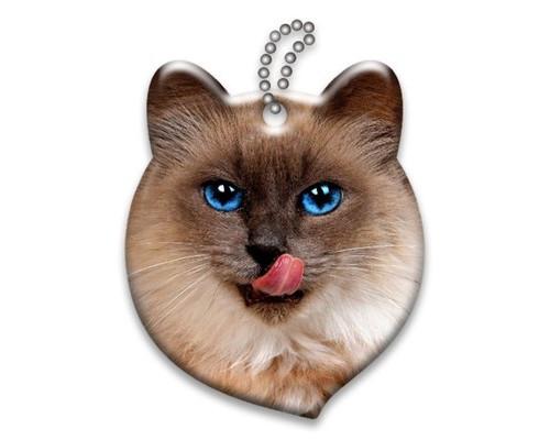 Брелок светоотражающий 3D Сиамская кошка А454