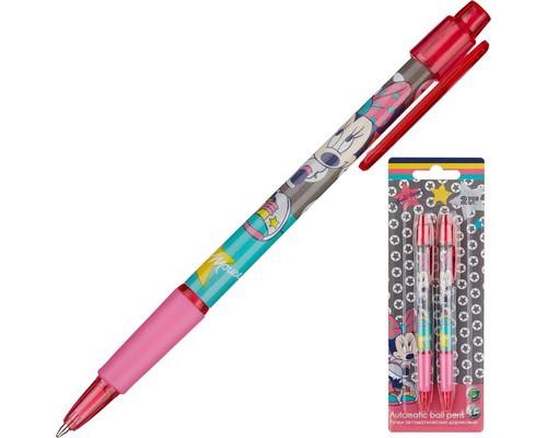 Ручка шариковая 2шт автомат синие Minnie Mouse MMCB-US1-116-BL2(20х7х1,5см)