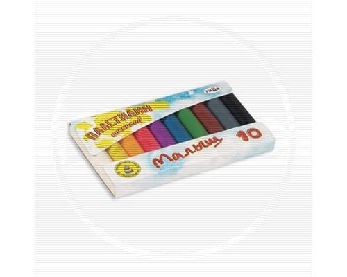 Пластилин Гамма Малыш 10цв восковой 90гр