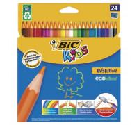 Карандаши цветные 24цв 6-гран Bic 829733