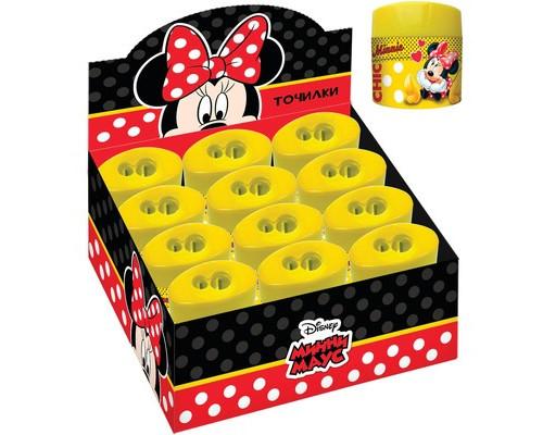 Точилка пластик 2 отверстия Disney Минни в д/б 28979