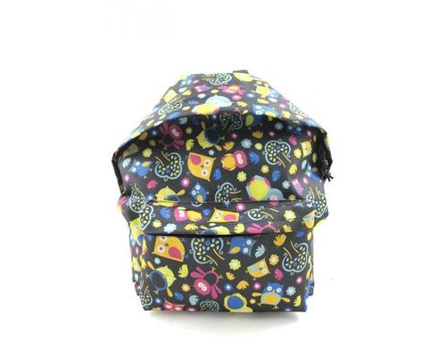 Рюкзак молодежный №1 School разноцветные совы