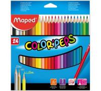 Карандаши цветные 24цв 3-гран Maped 183224 330890