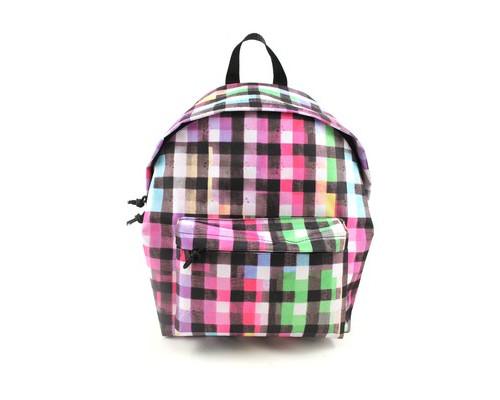 Рюкзак молодежный №1 School цветная клетка акварель