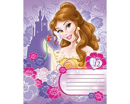 Тетрадь школьная 12л, скрепка, А5, линейка, Princess, D3372/5