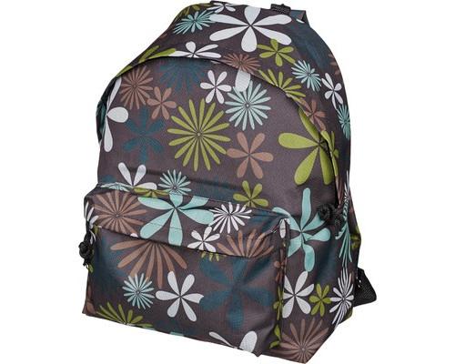 Рюкзак молодежный №1 School цветы бирюзово-коричневые