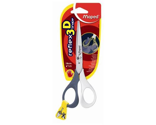 Ножницы 160мм для левшей Maped Shape 476510, эрго.ручки цвет ассорти