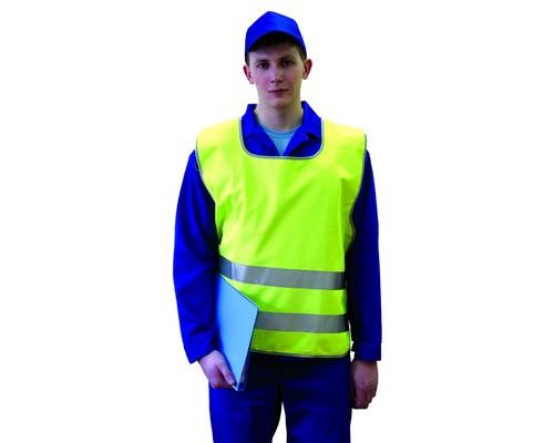 Спец.костюм Жилет сигнальный Тип5Т,цв.лимон.(р.ХХL-ХХXL/56-62)