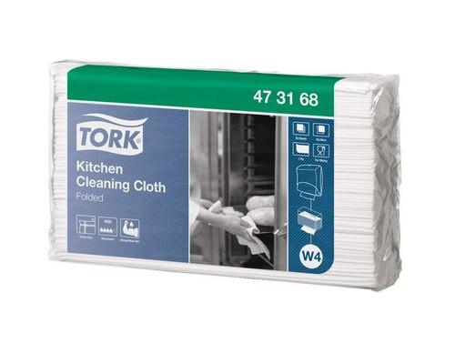 Нетканный материал Tork для кухни W4 85л/уп,белый 473168