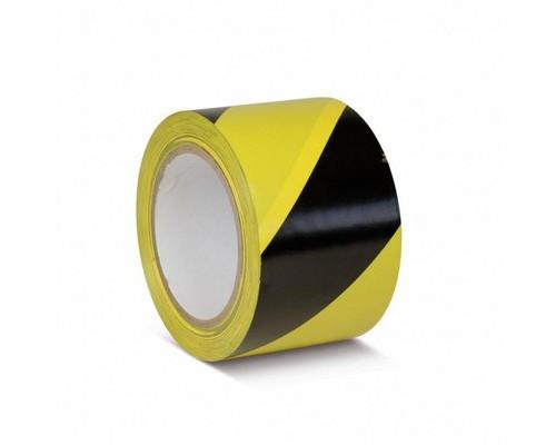 Лента для разметки ПВХ желто-черный 75мм*30м (KMSW07533)