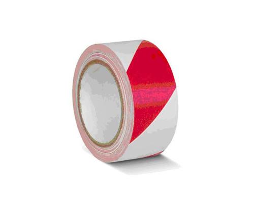 Лента для разметки ПВХ красно-белый 50мм*33м (KMSY05033)