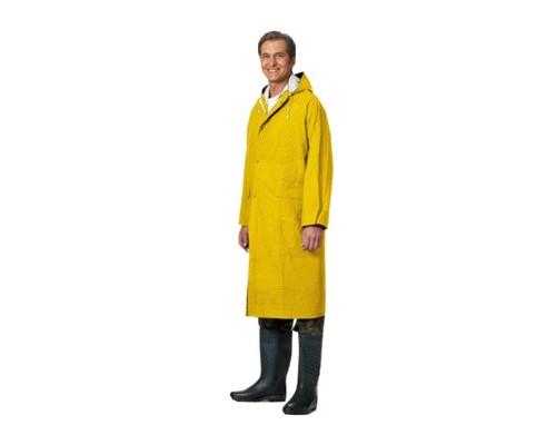 Спец.костюм Плащ влагозащитный ПВХ с капюшоном желтый XL