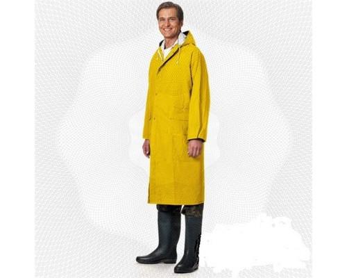 Спец.костюм Плащ влагозащитный ПВХ с капюшоном желтый XXXL