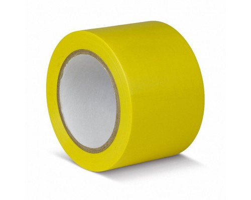 Лента для разметки ПВХ желтый 75мм*30м (KMSG07533)