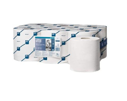 Протирочная бумага Tork Reflex M4 2сл.ЦВ 450л*6рул/кор,бел 473472