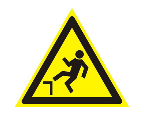 Знак безопасности W15 Осторожно!Возм-ть падения с высоты(плёнка,200х200)