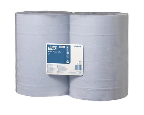 Протирочная бумага Tork W1 2 сл.1000лx2рул/уп голубая 128408