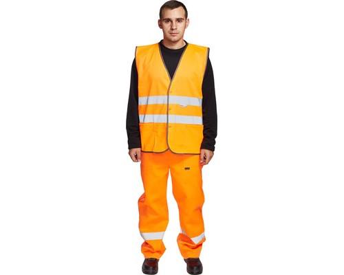 Спец.костюм Жилет сигнальный Тип2Т, цв.оранж.(р.L/48-50)