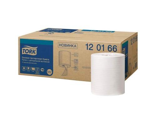 Протирочная бумага Tork M2 1 сл. ЦВ 6рул/кор,базовая,белая 120166