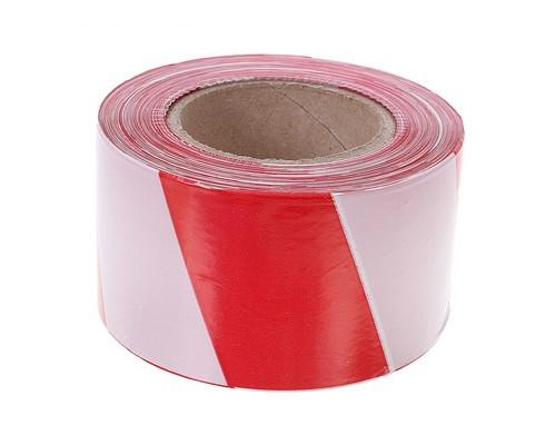 Лента оградительная красно-белая 75мм х250м