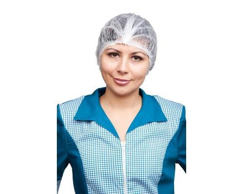 Одноразовая одежда Шапочка-клип Шарлотта белая 100шт. в уп.
