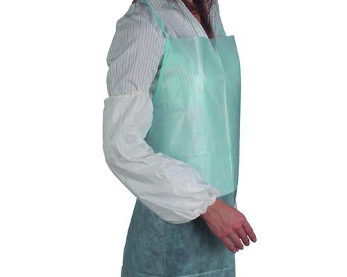 Одноразовая одежда Нарукавники полиэтиленовые,цв.белый 50 пар в уп.