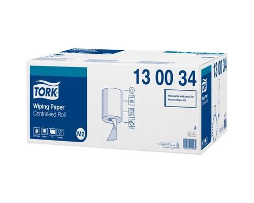 Протирочная бумага Tork M2 1 сл. ЦВ 471л*6рул/кор, белая 130034
