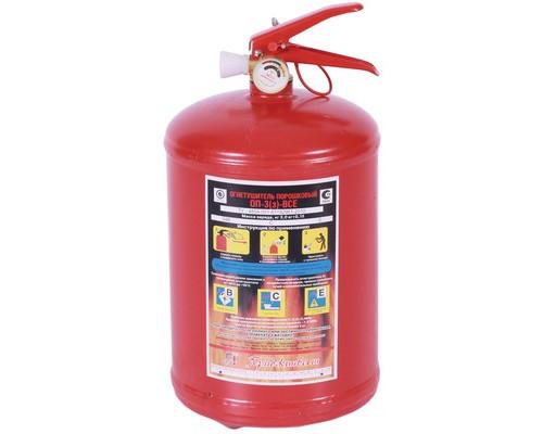 Огнетушитель порошковый ОП-3(з) ВСЕ металл (упаковка 4шт)