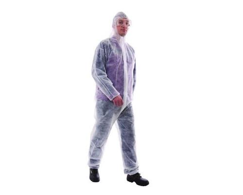 Одноразовая одежда Комбинезон защитный с закр.молн./бел.(Спандбонд) р-р.XL