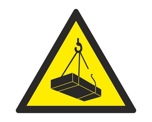 Знак безопасности W06 Опасно. Возможно падение груза (плёнка,200х200)