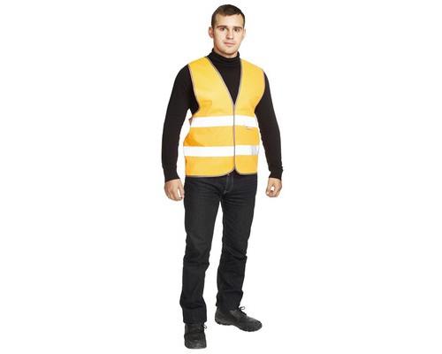 Спец.костюм Жилет сигнальный Тип1Е, цв.оранж.(р.L-XL/48-54)