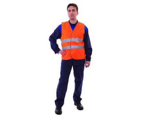 Спец.костюм Жилет сигнальный Тип1Т, цв.оранж.(р.ХL/52-54)