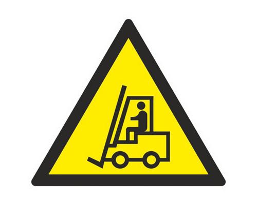 Знак безопасности W07 Внимание. Автопогрузчик (плёнка,200х200)
