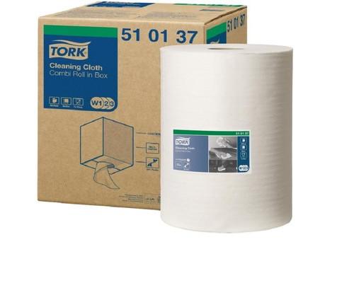 Нетканный материал Tork W1/W2/W3 400л*1рул/кор, белый 510137