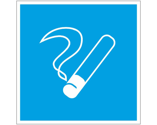 Знак безопасности D03 Место курения (плёнка,200х200)