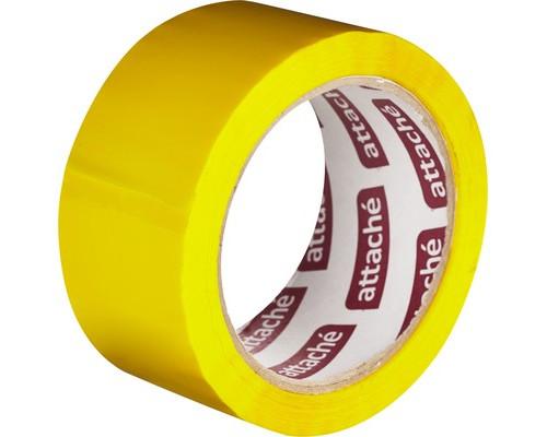 Клейкая лента упаковочная Attache желтая 48 мм x 66 м плотность 45 мкм - (146162К)