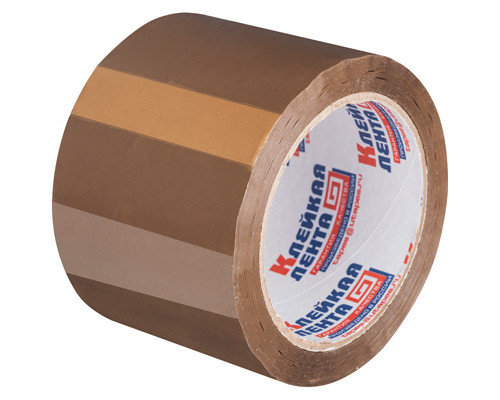 Клейкая лента упаковочная коричневая 75 мм x 66 м плотность 47 мкм - (27257К)