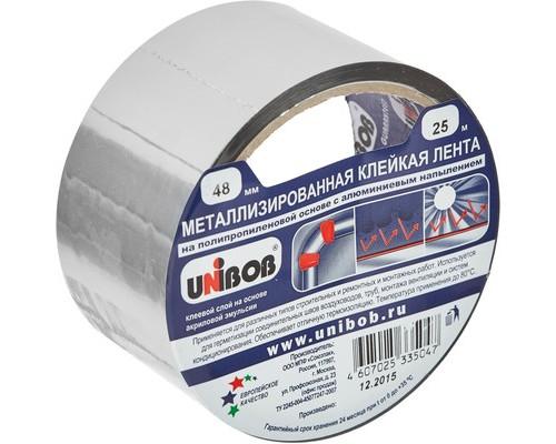 Клейкая лента металлизированная Unibob серая 48 мм x 25 м - (517318К)