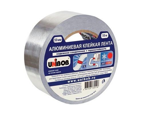 Клейкая лента алюминиевая Unibob 50 мм x 50 м - (517313К)
