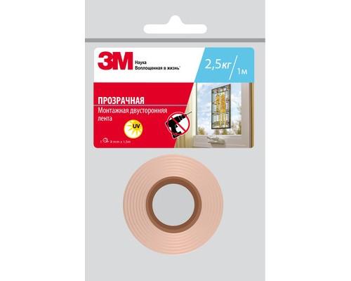 Клейкая лента монтажная двусторонняя 3M прозрачная 8 мм х 1.5 м - (620712К)