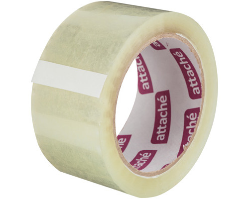 Клейкая лента упаковочная Attache прозрачная 48 мм x 60 м плотность 45 мкм - (314617К)