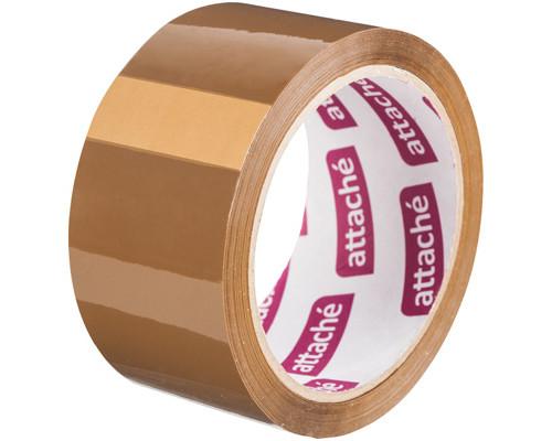 Клейкая лента упаковочная Attache коричневая 48 мм x 60 м плотность 40 мкм - (129145К)