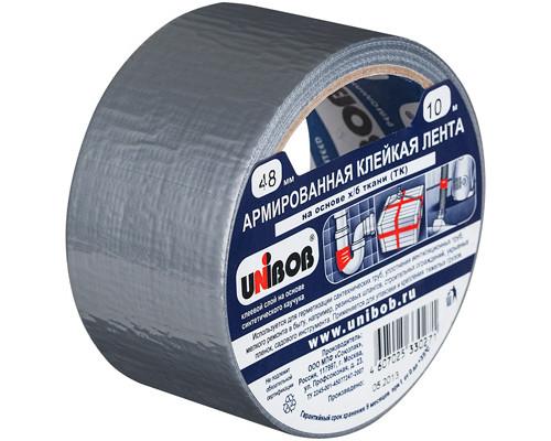 Клейкая лента армированная Unibob АРМ серая 48 мм х 10 м - (131100К)