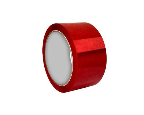 Клейкая лента упаковочная красная 48 мм x 55 м плотность 45 мкм - (455017К)