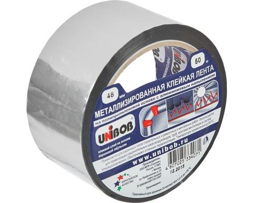 Клейкая лента металлизированная Unibob серая 48 мм x 50 м - (517320К)