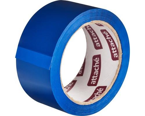 Клейкая лента упаковочная Attache синяя 48 мм x 66 м плотность 45 мкм - (146160К)
