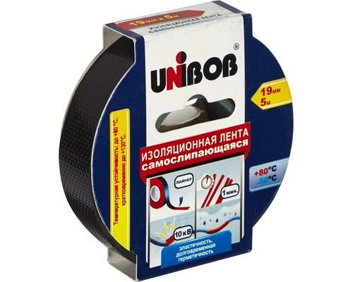 Клейкая лента электроизоляционная Unibob черная 19 мм х 5 м самослипающаяся - (371122К)